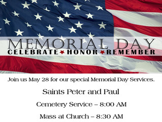 Sts. Peter and Paul Memorial Day Services