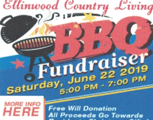 Ellinwood Country Living BBQ Fundraiser June 22nd 5-7 pm