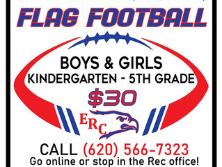 Registration for Flag Football is now OPEN