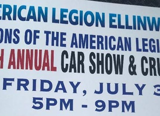 Sons of the American Legion Car Show & Cruise Night July 3rd