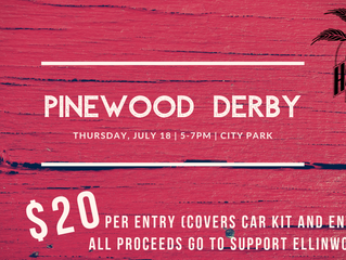 AHF Pinewood Derby Thursday, July 18