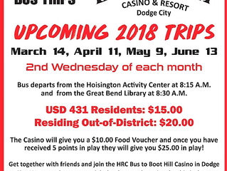 Four chances to win big at Boot Hill Casino. Hitch a ride with us!