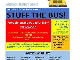 United Way of Central KS Stuff the Bus July 31st