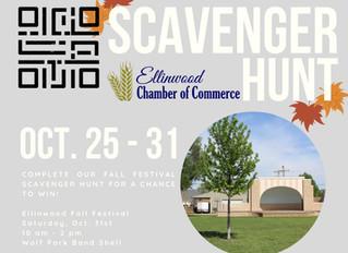 Ellinwood Fall Festival QR Scavenger Hunt Oct. 25-31