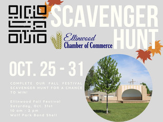 Ellinwood Fall Festival QR Scavenger Hunt Oct. 25-31