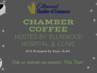 Ellinwood Chamber Coffee July 12, hosted by Ellinwood Hospital & Clinic