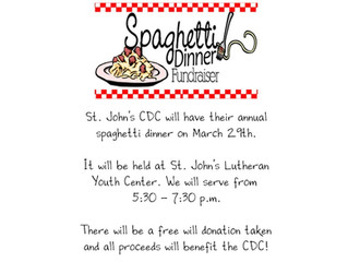 CDC Spaghetti Dinner Fundraiser