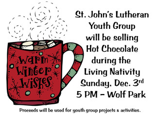 Lutheran Youth Group Sell Hot Chocolate