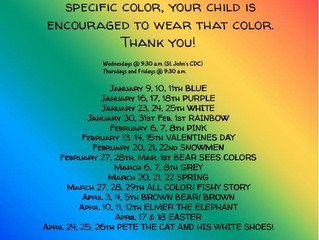 Ellinwood School/Community Library 2019 Spring Story Time Schedule