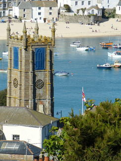 Blick auf St. Ives Grafschaft Cornwall