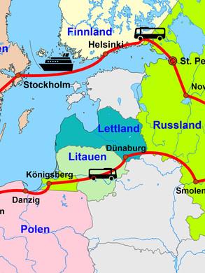 Rundreiseroute Moskau und St. Petersburg