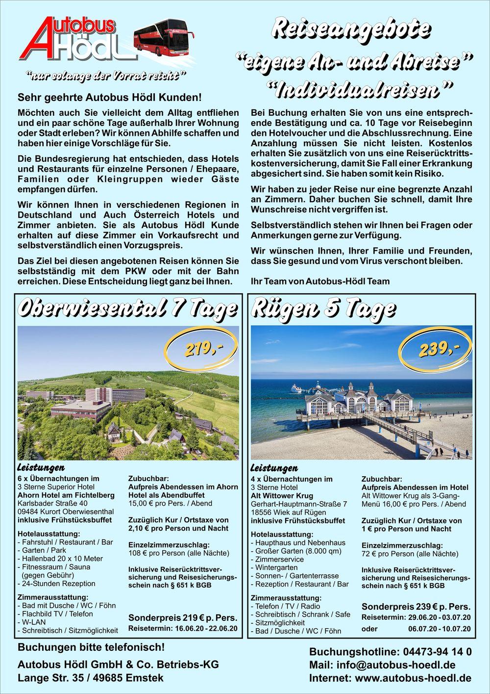 Individual Reisen Flyer Seite 1