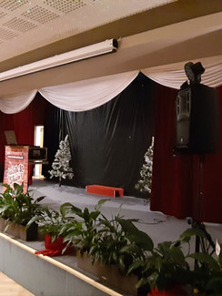 Podium im Festsaal