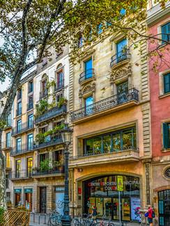 Einkaufstraße in Barcelona