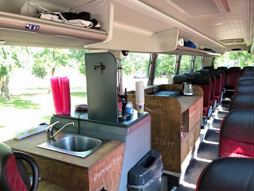 Bordküche Scania Premium-Class Fernreisebus