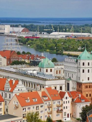 Stettin Pommernschloss mit Hafenblick