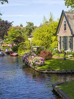Giethoorn in den Niederlanden
