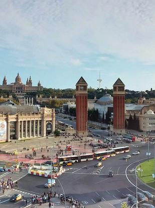 Placa Espanya in Barcelona