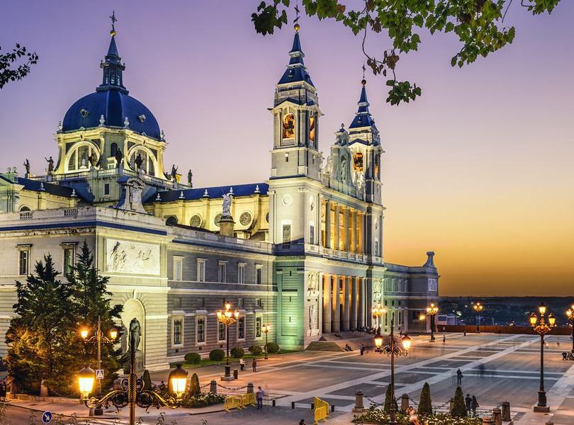 Abendliches Madrid