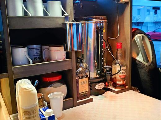 Kaffeebar im Setra Premium-Class Bistrobus