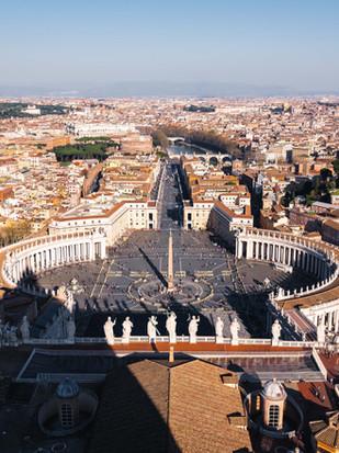 Petersplatz Vatikanstadt Rom