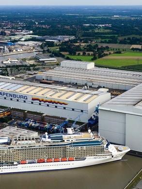 Luftbild Meyer Werft Papenburg