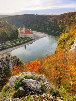 Herbstpanorama Kloster Weltenburg