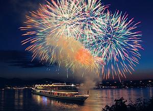 Silvester und Neujahr Donau