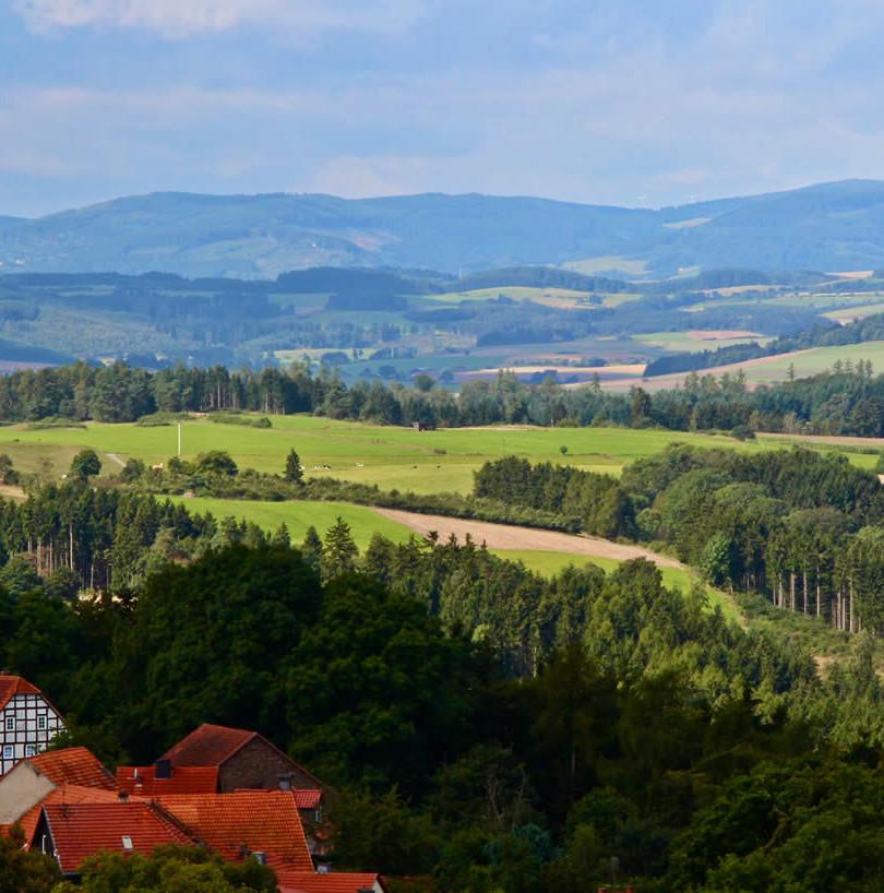 Blick ins schöne Waldecker Land