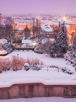 winterliches Baden im Wienerwald