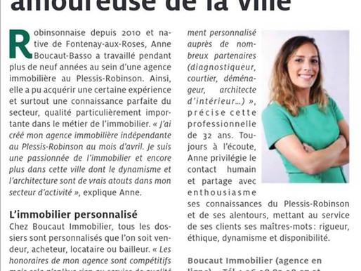 Interview de rentrée dans le journal du Petit Robinson