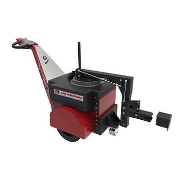 """Power Pusher הוא כלי גורר/דוחף חשמלי רב-תכליתי המופעל ע""""י אדם הולך. משמש להנעה, דחיפה, משיכה, נווט ותמרון של צילינדרים וגלילי נייר, דחיפת ומשיכת עגלות ואף העברת משאות כבדים על גבי גלגיליות. הגרירה החשמלית של כלי היא אלטרנטיבה חסכונית למלגזה או לרכב אחר. הפעולה מהירה ובטוחה באופן משמעותי ומאפשרת לעובדים סביבת עבודה נוחה ובטוחה. מכיוון שגוררים חשמליים אינם מכשירי הרמה (כגון מלגזות), ומסווגים כמכולת אדם הולך, הם אינם כפופים לתקנות פעולות הרמה וציוד הרמה (LOLER) ואינן מחייבות את המפעיל לרשיון נהיגה.  הכלי קטן באופן משמעותי ממלגזה ולכן תופס מקום מצומצם בשטח התפעולי של המפעל."""