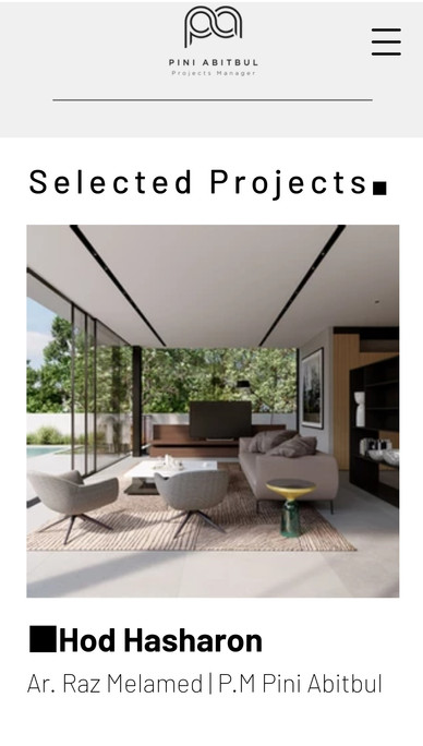 פיני אביטבול ניהול פרויקטים | תיק עבודות