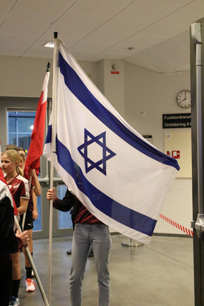 דגל ישראל בטקס הפתיחה, טורניד לונד 2019.