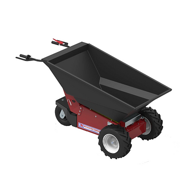 "Electric Wheelbarrow היא מריצה חשמלית המיועדת לשוק התעשייתי. המריצה מונעת חשמל מסוגלת להזיז עד 350 ק""ג ומופעלת ע""י אדם הולך. ההנעה חשמלית חזקה, בטוח, שקטה, ללא גזי פליטה וללא תנודות בכידון. המריצה בעלת מנגנון שפיכה המאפשר פעולה נוחה ובטוחה למפעיל. רוחב המריצה - 810 ס""מ, מה שהופך אותה אידיאלית לעבודות קטנות בבנייה כמו ריצוף ועבודות בטון, פרויקטים גדולים בגינון, עבודה בחממות חקלאיות, העברת אבנים, אגרגטים, חול, עץ וצמחים, העברת מזון בע""ח ושלל של עבודות הקשורות במנהרות."