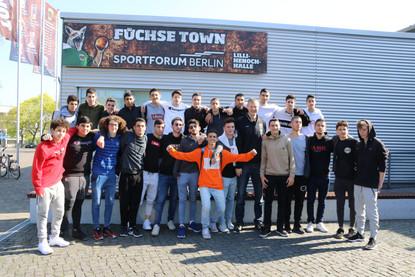 מחלקת הנוער אסא תל אביב במהלך ביקור באקד
