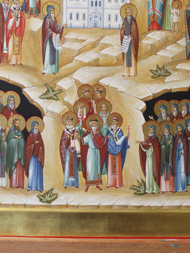 Затворники на фоне пещер и избранные свя