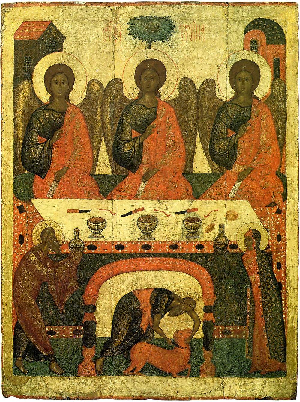 Икона Святая Троица. Псков, XVI век
