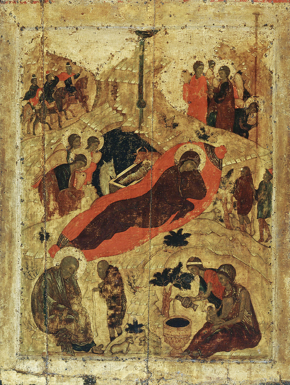 Рождество Христово. XV век. Икона из праздничного ряда иконостаса Благовещенского собора.