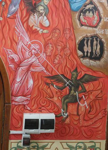 Ангел Господень поражает Диавола