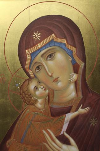 Владимирская икона Божией Матери (фрагме