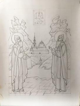 Рисунок св Герман и Сергий Валаамские.jp