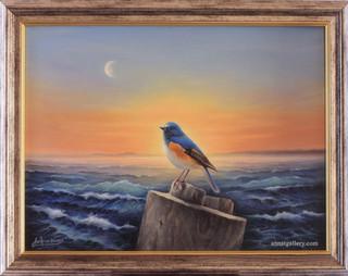 Птичка у моря