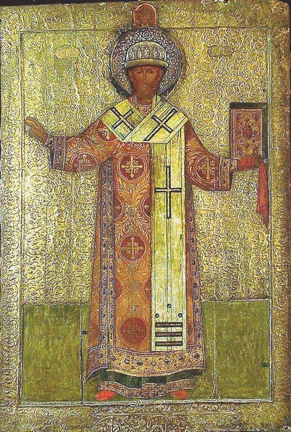 Митрополит Филипп. Икона работы Симона Ушакова, 1653 год