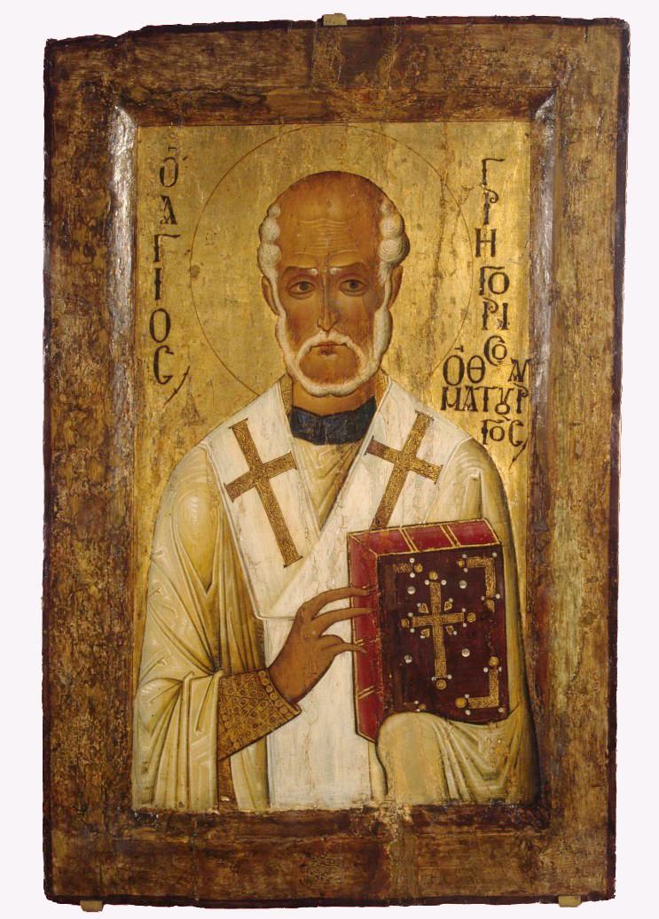 Святой Григорий чудотворец. Икона XII в. Византия