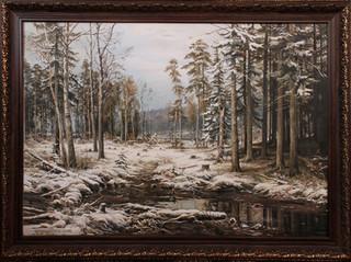 """Копия картины И. И. Шишкина """"Первый снег"""""""
