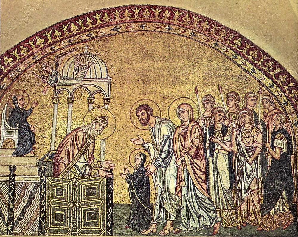 Мозаика ц. Успения близ Дафни. Ок.1100 г. Греция