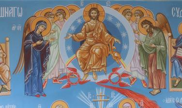 Иисус Христос с предстоящими Богородицей и Иоанном Предтечей