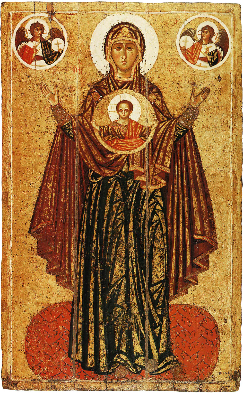 Богоматерь Великая Панагия (Оранта). XIII в. Ярославль