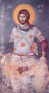 Великомученик Артемий. Фреска